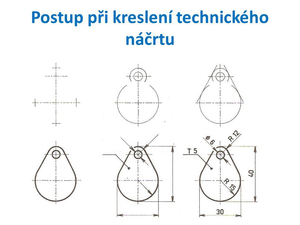 Postup při kreslení technického náčrtu
