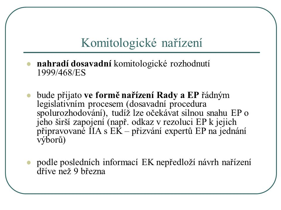 Komitologické nařízení