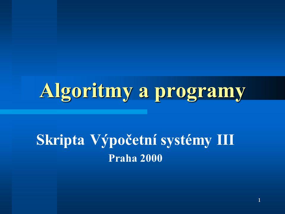 Skripta Výpočetní systémy III Praha 2000