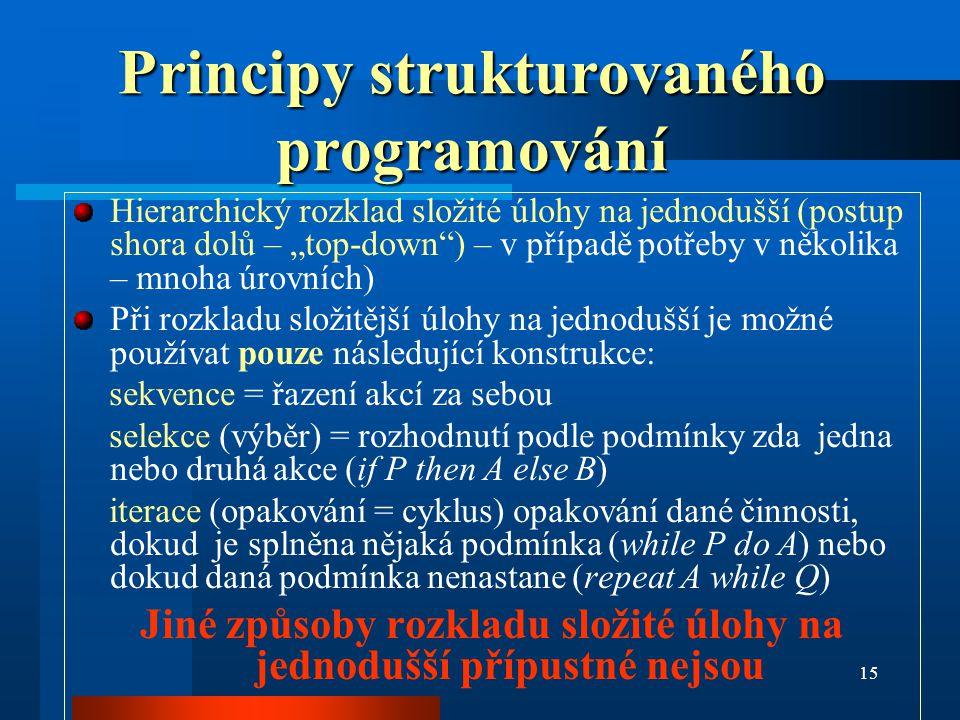 Principy strukturovaného programování