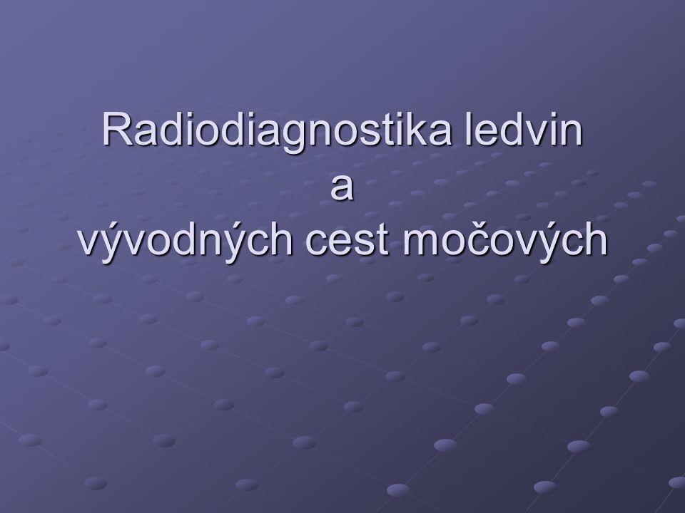 Radiodiagnostika ledvin a vývodných cest močových