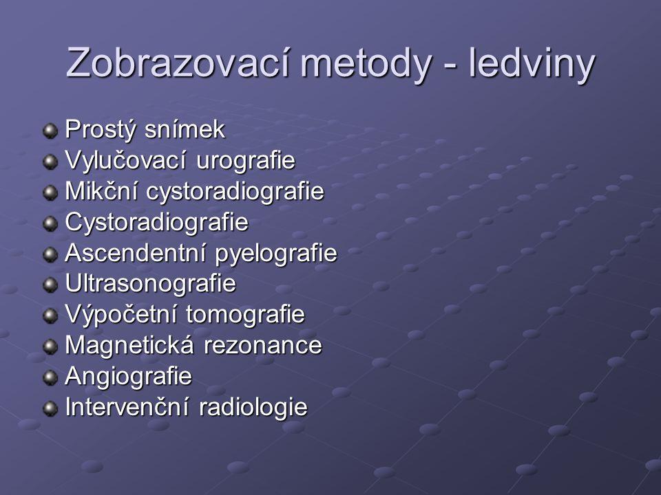 Zobrazovací metody - ledviny