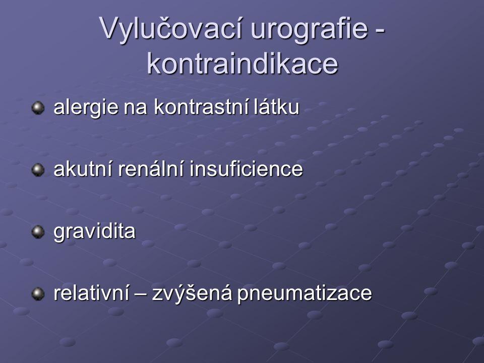 Vylučovací urografie - kontraindikace