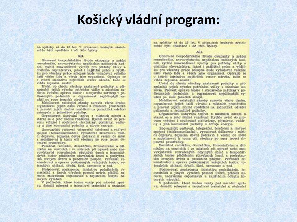 Košický vládní program: