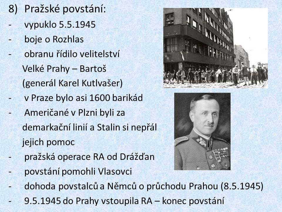 Pražské povstání: vypuklo 5.5.1945 boje o Rozhlas