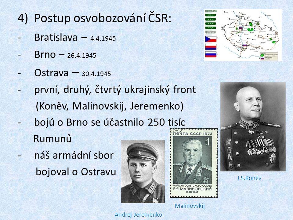 Postup osvobozování ČSR: