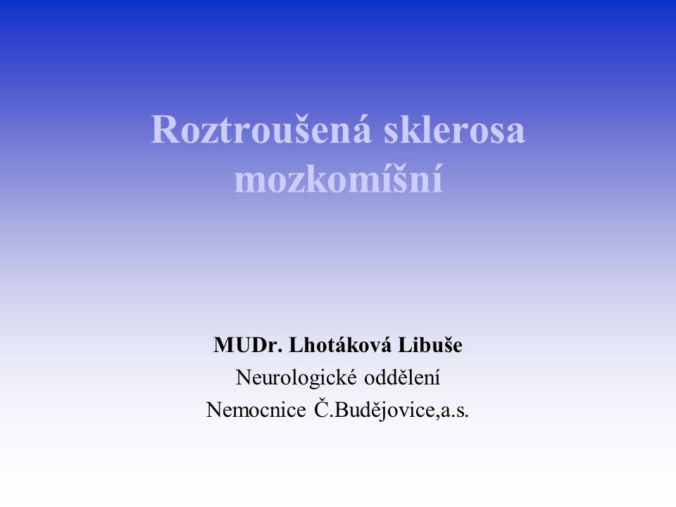 Roztroušená sklerosa mozkomíšní