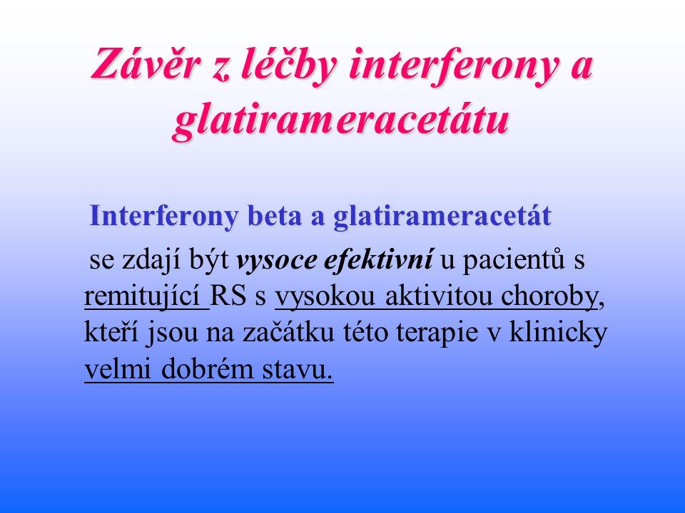 Závěr z léčby interferony a glatirameracetátu