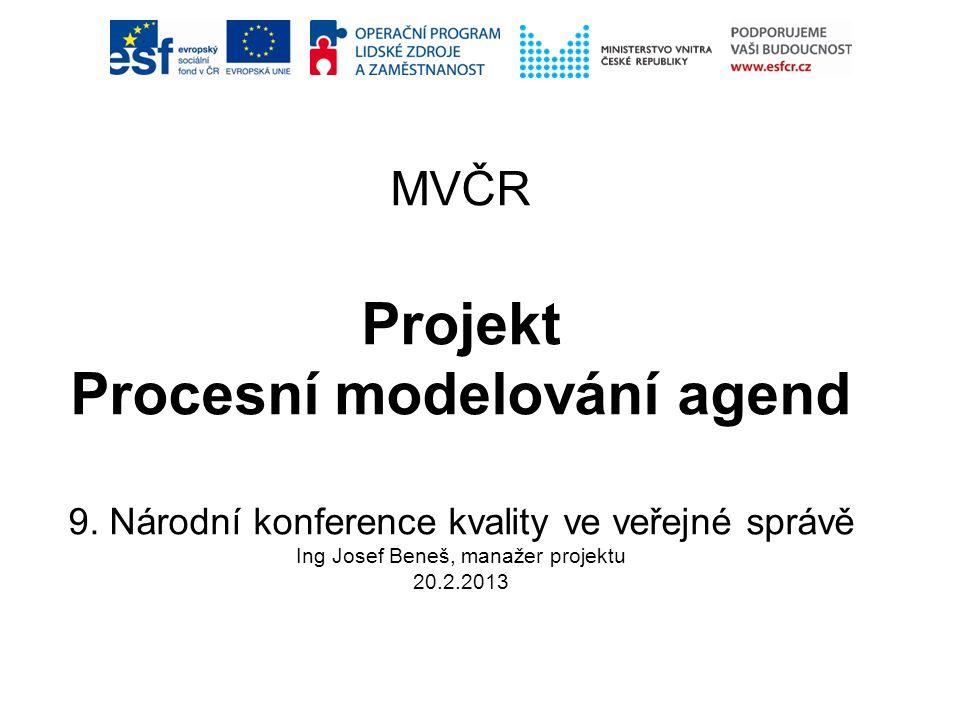 MVČR Projekt Procesní modelování agend 9