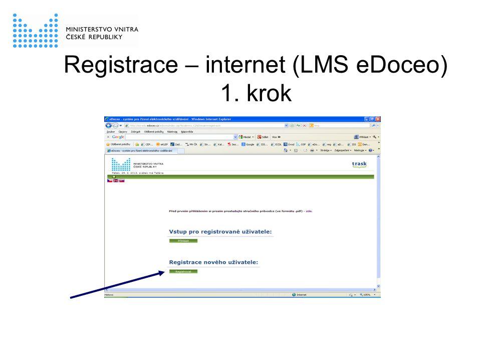 Registrace – internet (LMS eDoceo) 1. krok