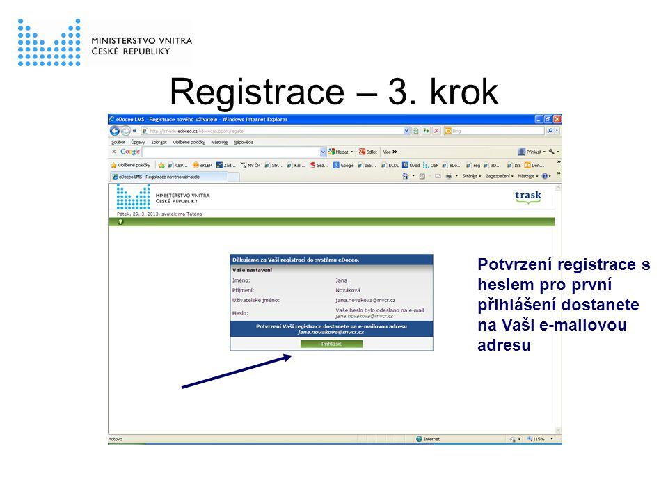 Registrace – 3.