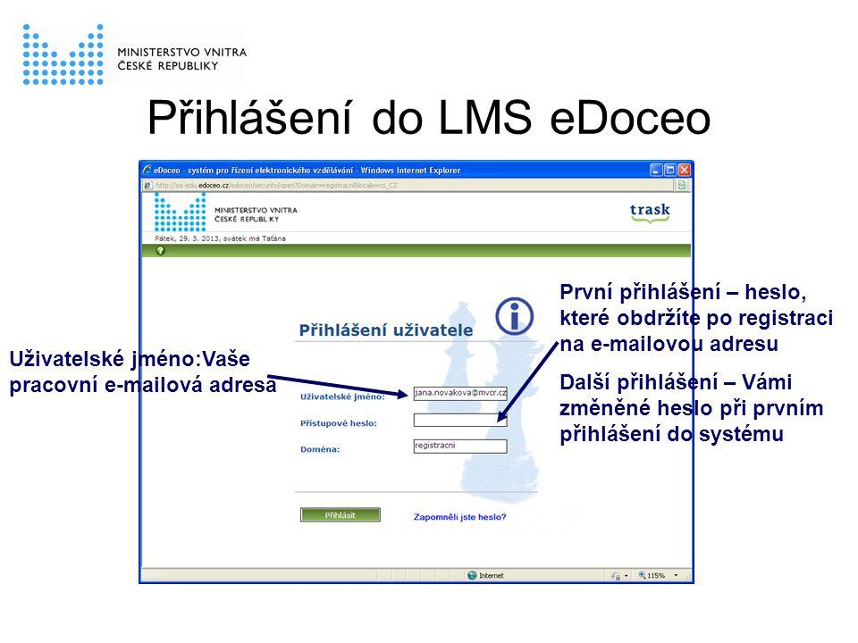 Přihlášení do LMS eDoceo