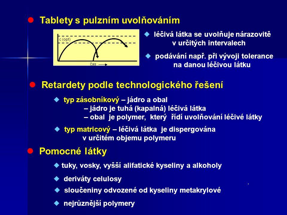  Tablety s pulzním uvolňováním