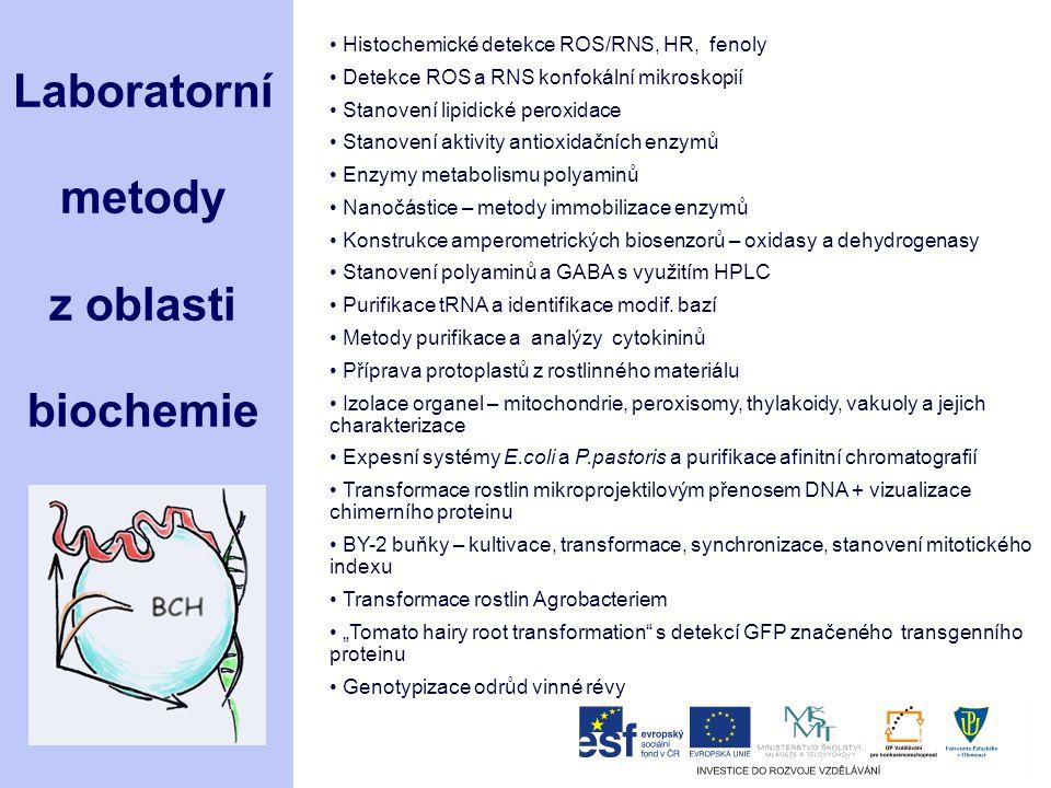 Laboratorní metody z oblasti biochemie