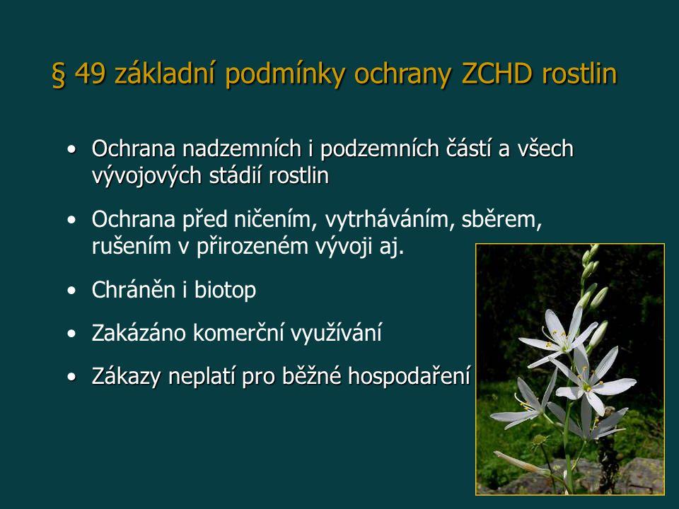 § 49 základní podmínky ochrany ZCHD rostlin
