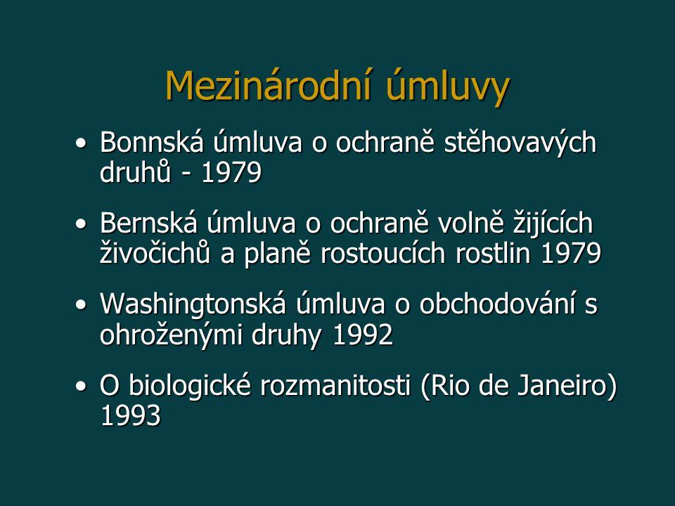Mezinárodní úmluvy Bonnská úmluva o ochraně stěhovavých druhů - 1979