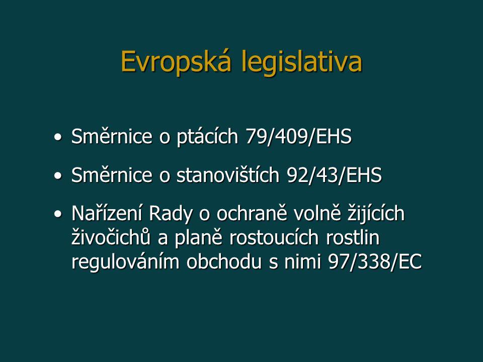 Evropská legislativa Směrnice o ptácích 79/409/EHS