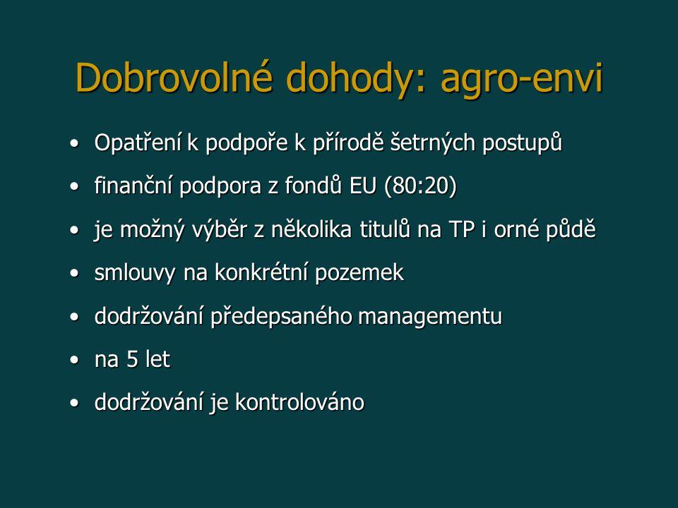 Dobrovolné dohody: agro-envi