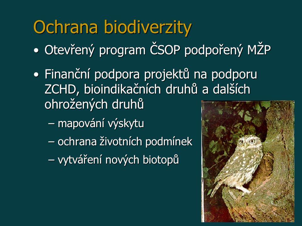 Ochrana biodiverzity Otevřený program ČSOP podpořený MŽP