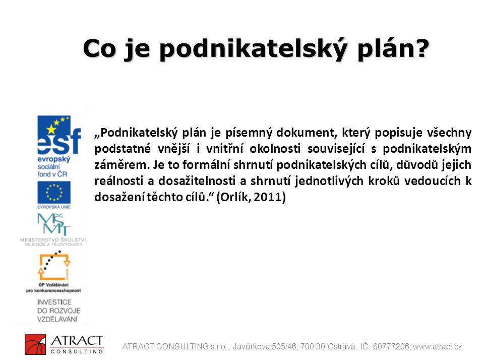 Co je podnikatelský plán