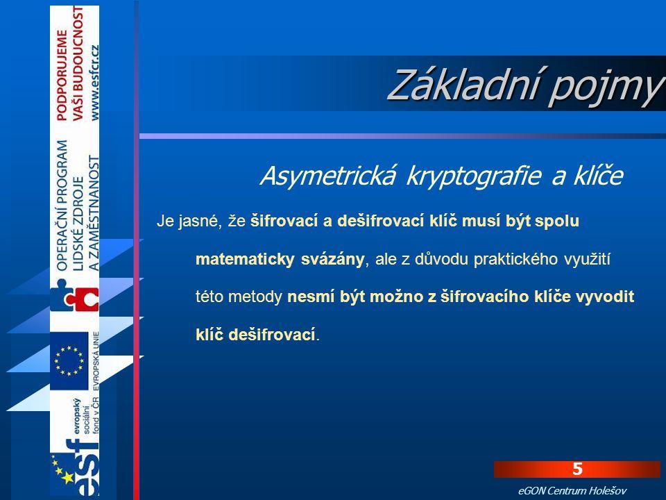 Základní pojmy Asymetrická kryptografie a klíče