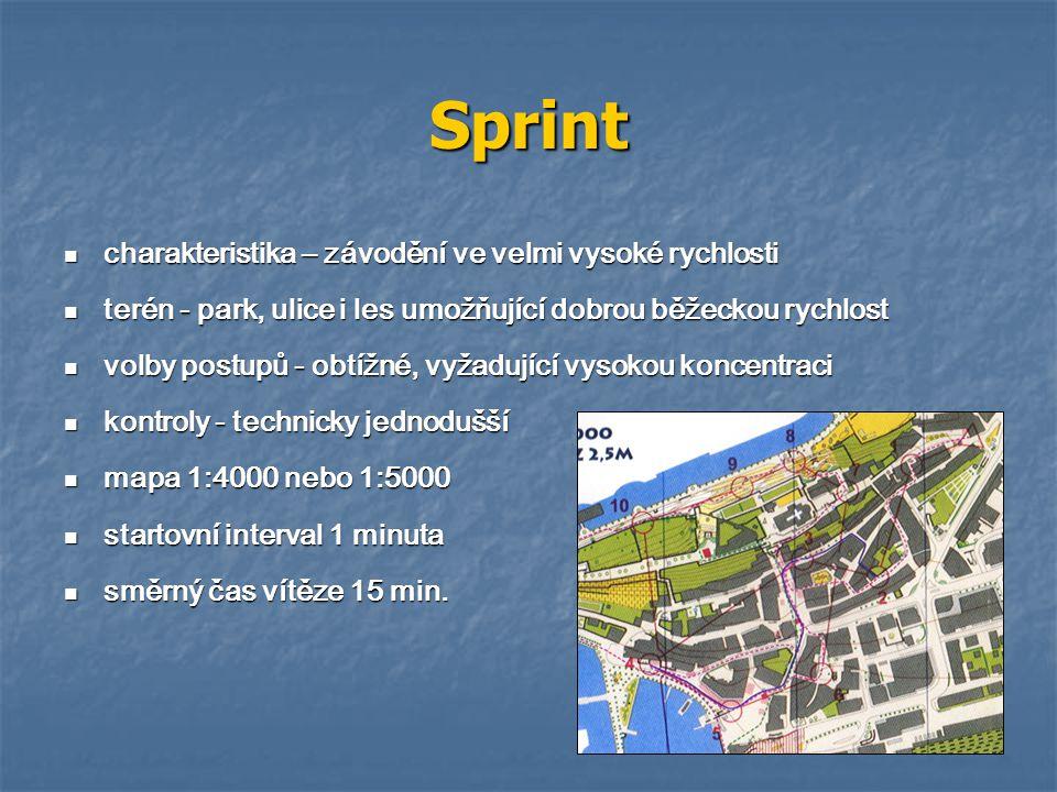 Sprint charakteristika – závodění ve velmi vysoké rychlosti