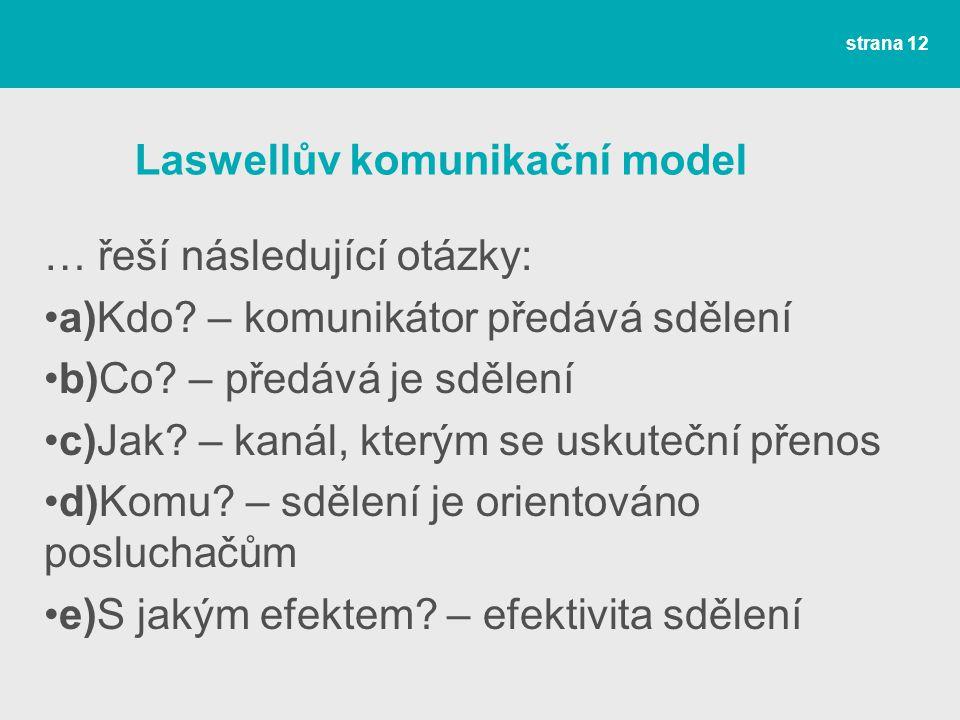 Laswellův komunikační model