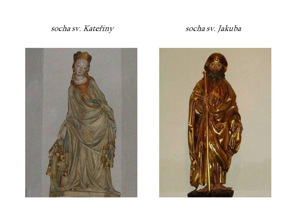 socha sv. Kateřiny socha sv. Jakuba