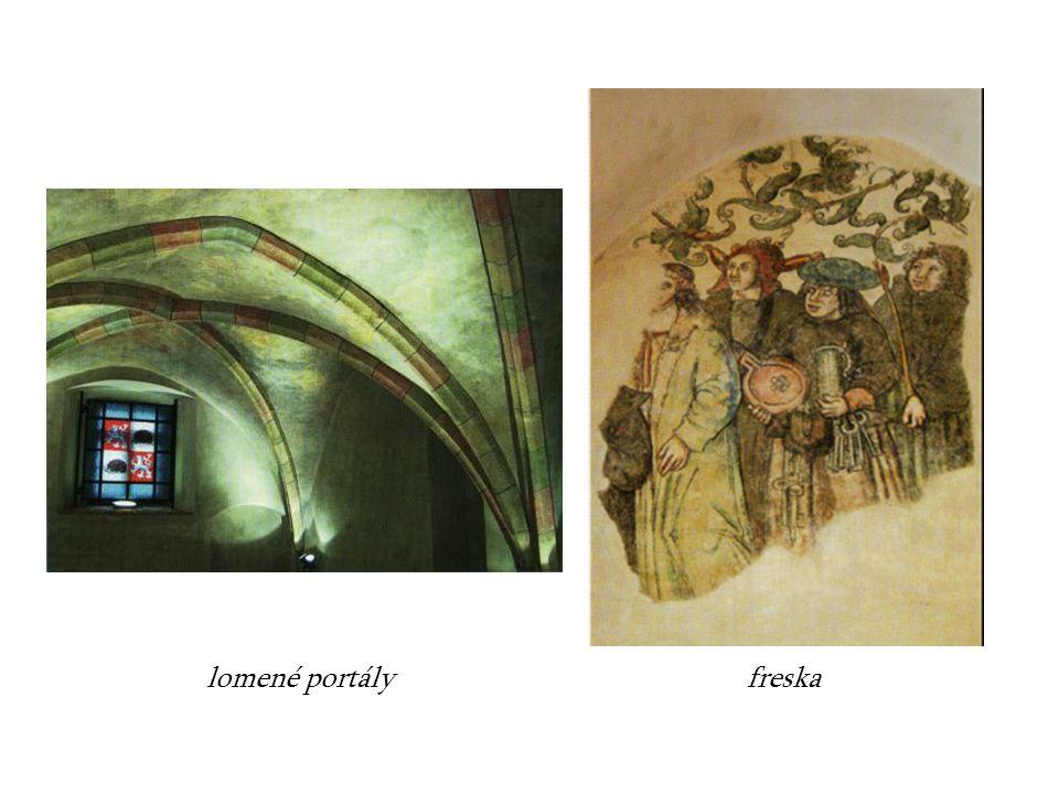 lomené portály freska