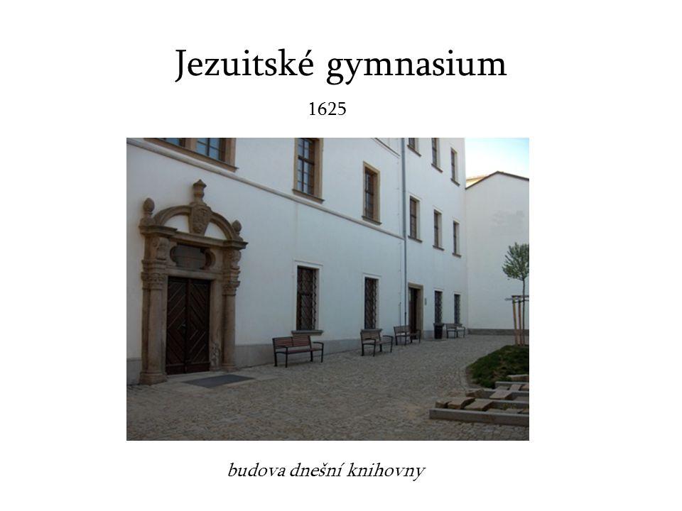Jezuitské gymnasium 1625 budova dnešní knihovny