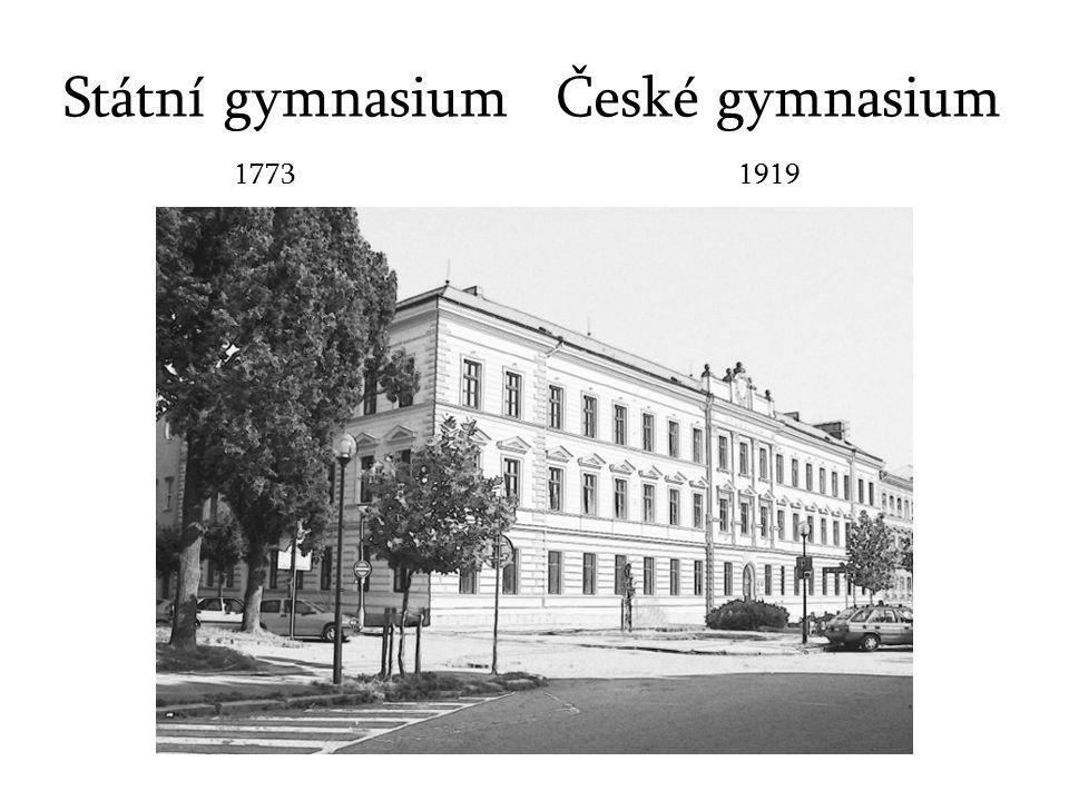Státní gymnasium České gymnasium 1773 1919