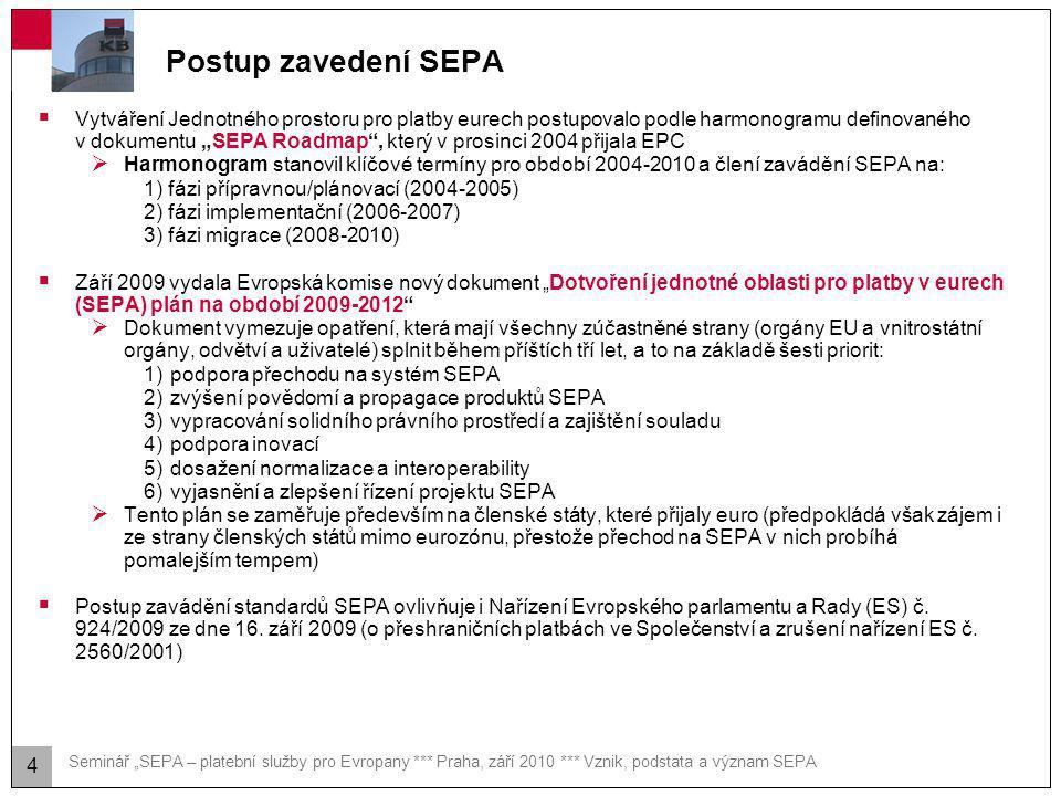 SEPA – obecná charakteristika