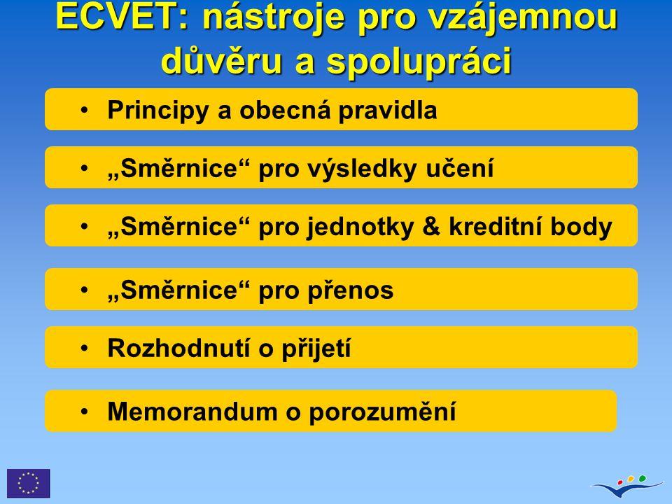 ECVET: nástroje pro vzájemnou důvěru a spolupráci