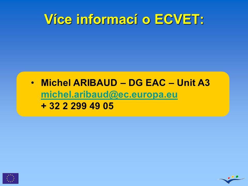 Více informací o ECVET: