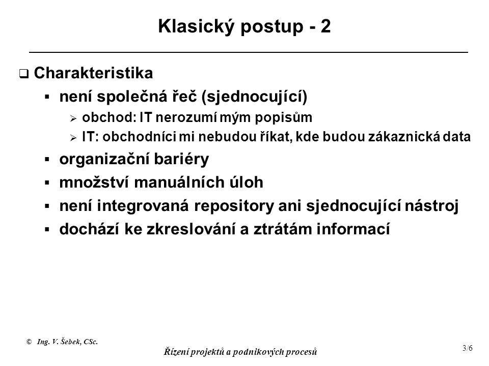 Klasický postup - 2 Charakteristika není společná řeč (sjednocující)