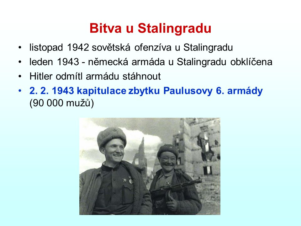 Bitva u Stalingradu listopad 1942 sovětská ofenzíva u Stalingradu