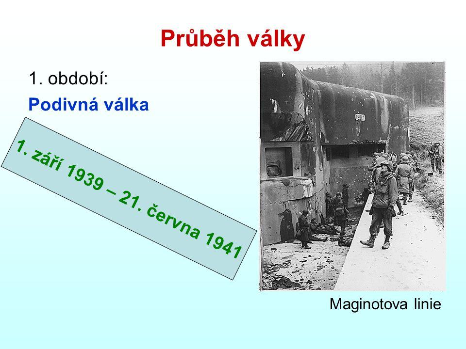 Průběh války 1. období: Podivná válka 1. září 1939 – 21. června 1941