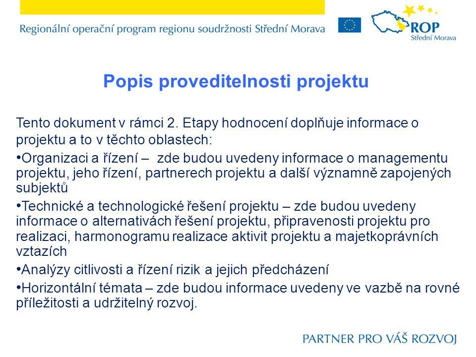 Popis proveditelnosti projektu
