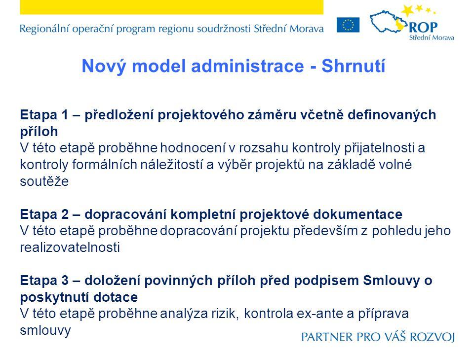 Nový model administrace - Shrnutí