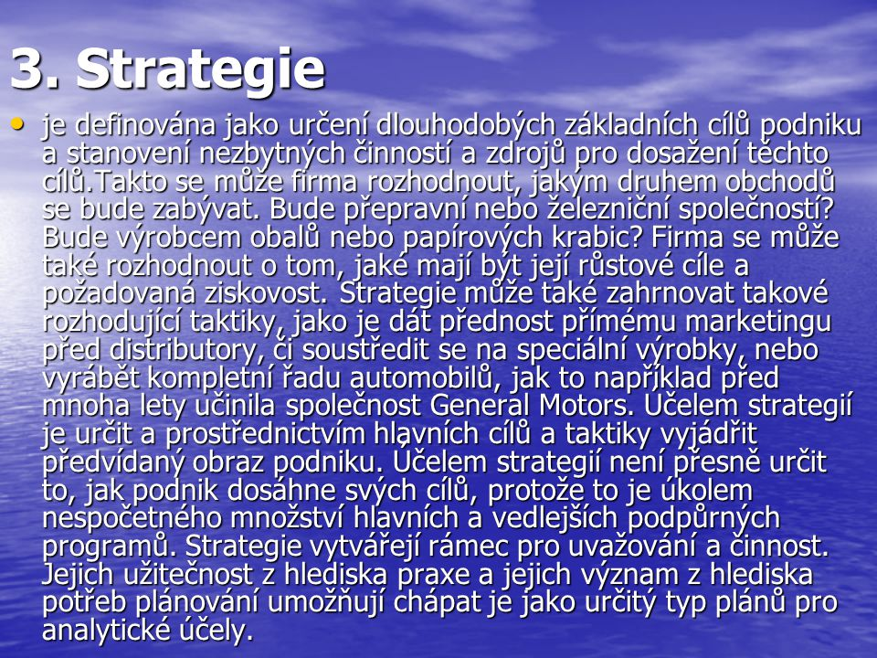 3. Strategie