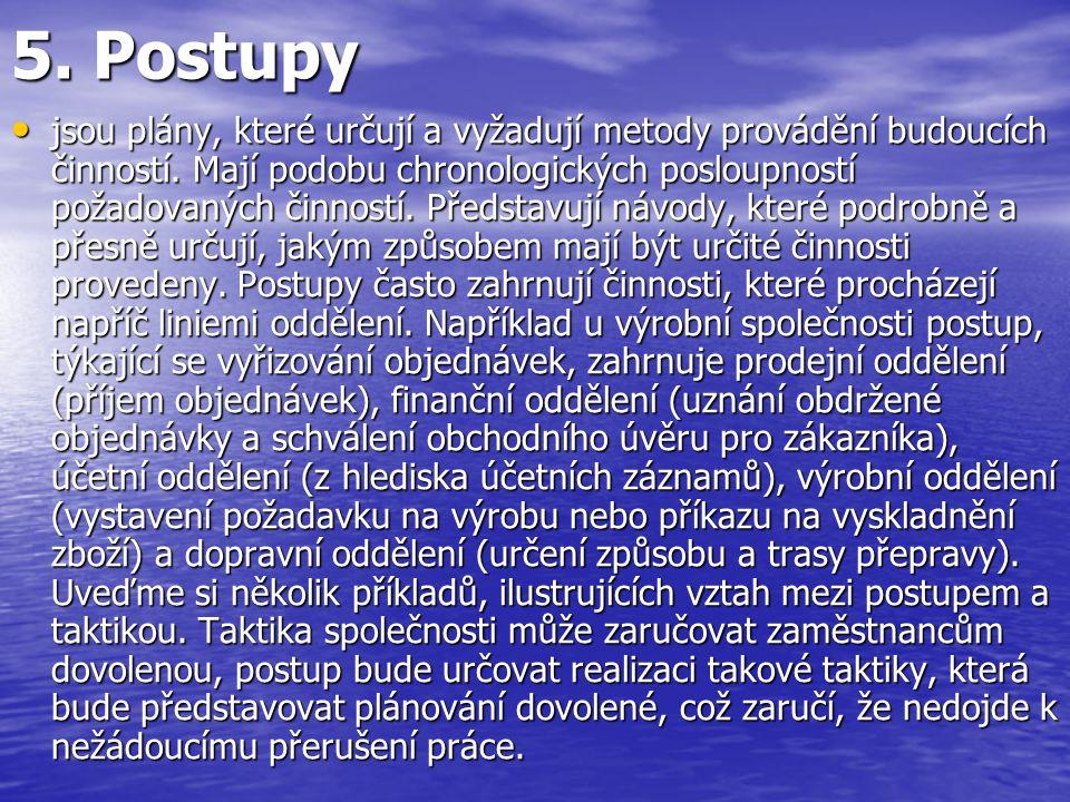 5. Postupy