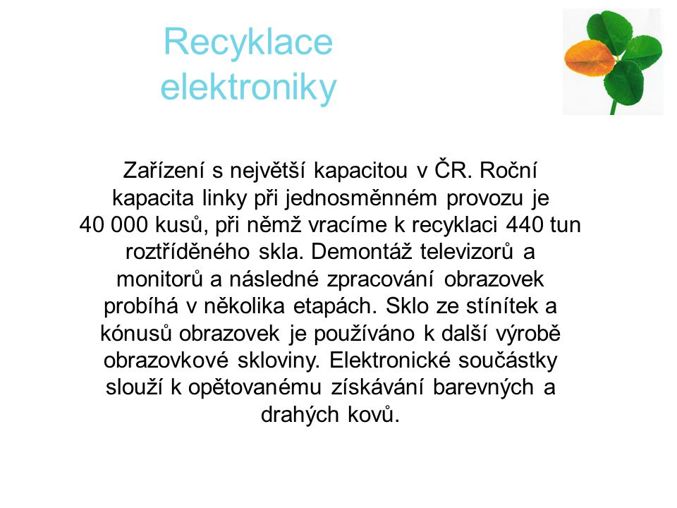 Recyklace elektroniky