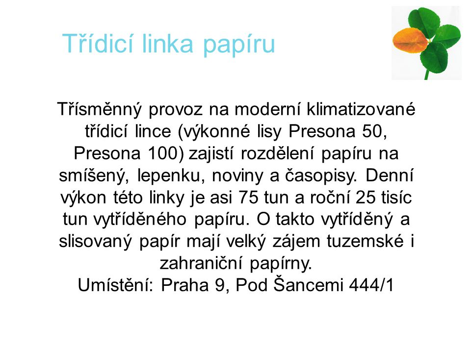 Umístění: Praha 9, Pod Šancemi 444/1