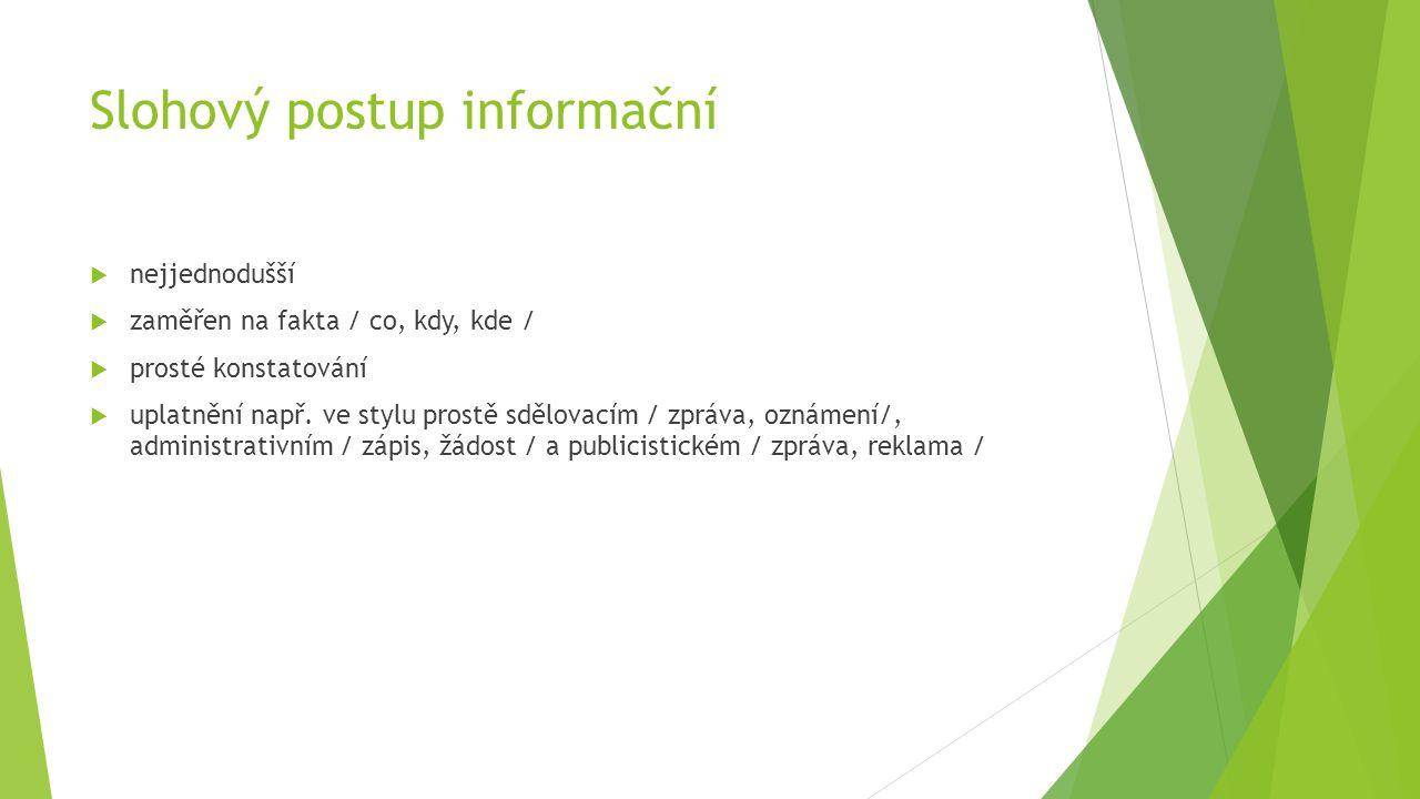 Slohový postup informační