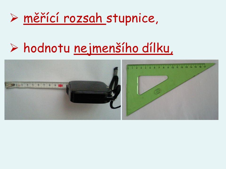 měřící rozsah stupnice,
