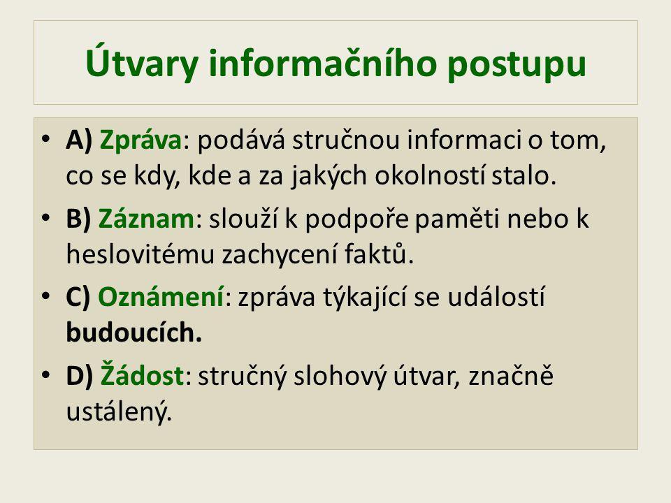 Útvary informačního postupu