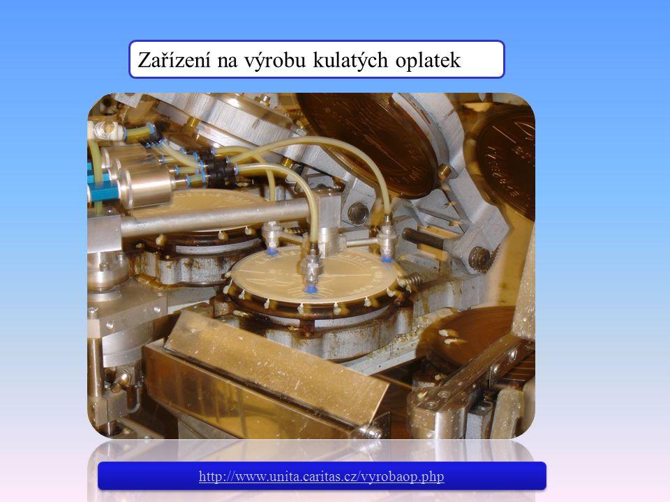 Zařízení na výrobu kulatých oplatek