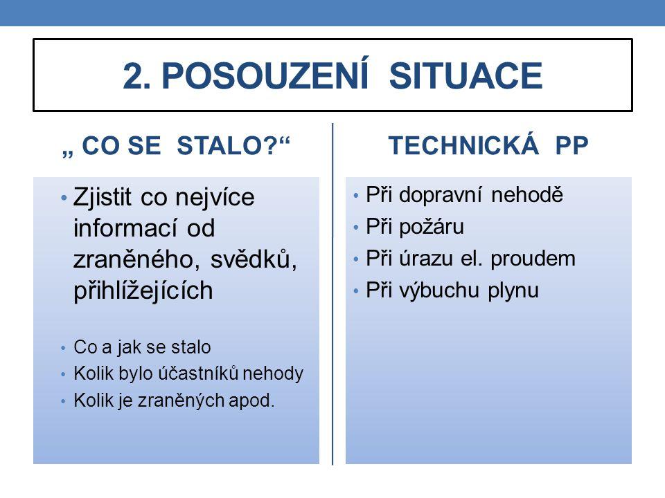 """2. POSOUZENÍ SITUACE """" CO SE STALO TECHNICKÁ PP"""