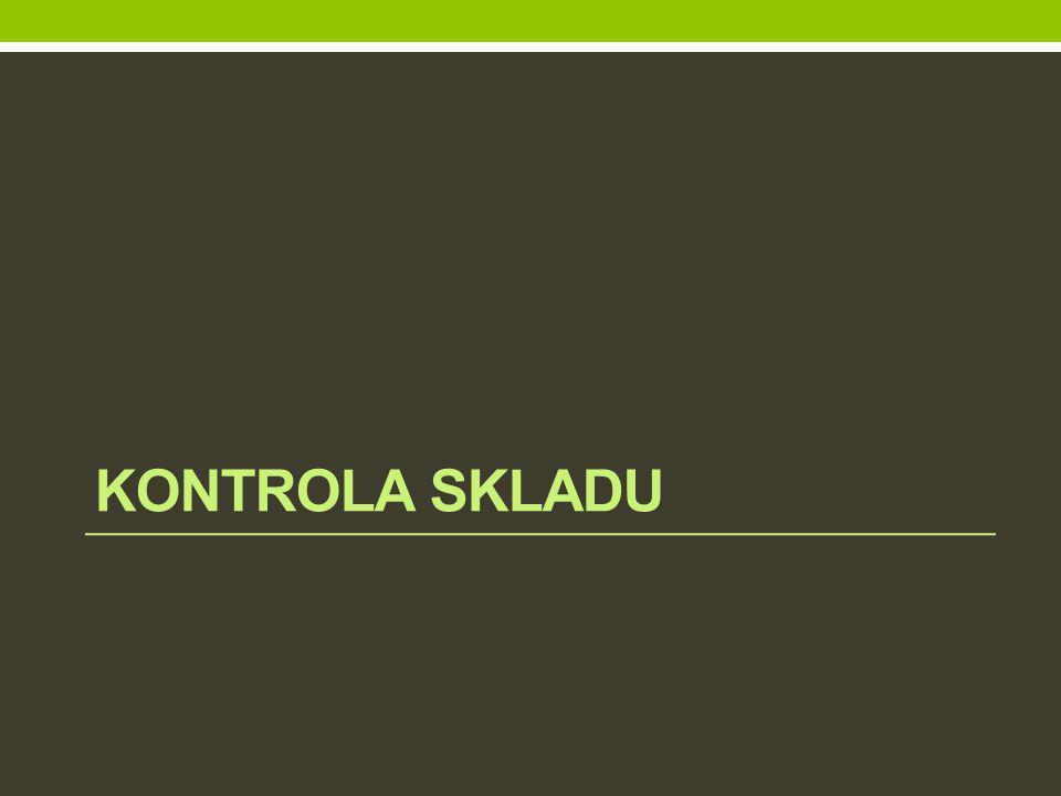 kontrola skladu