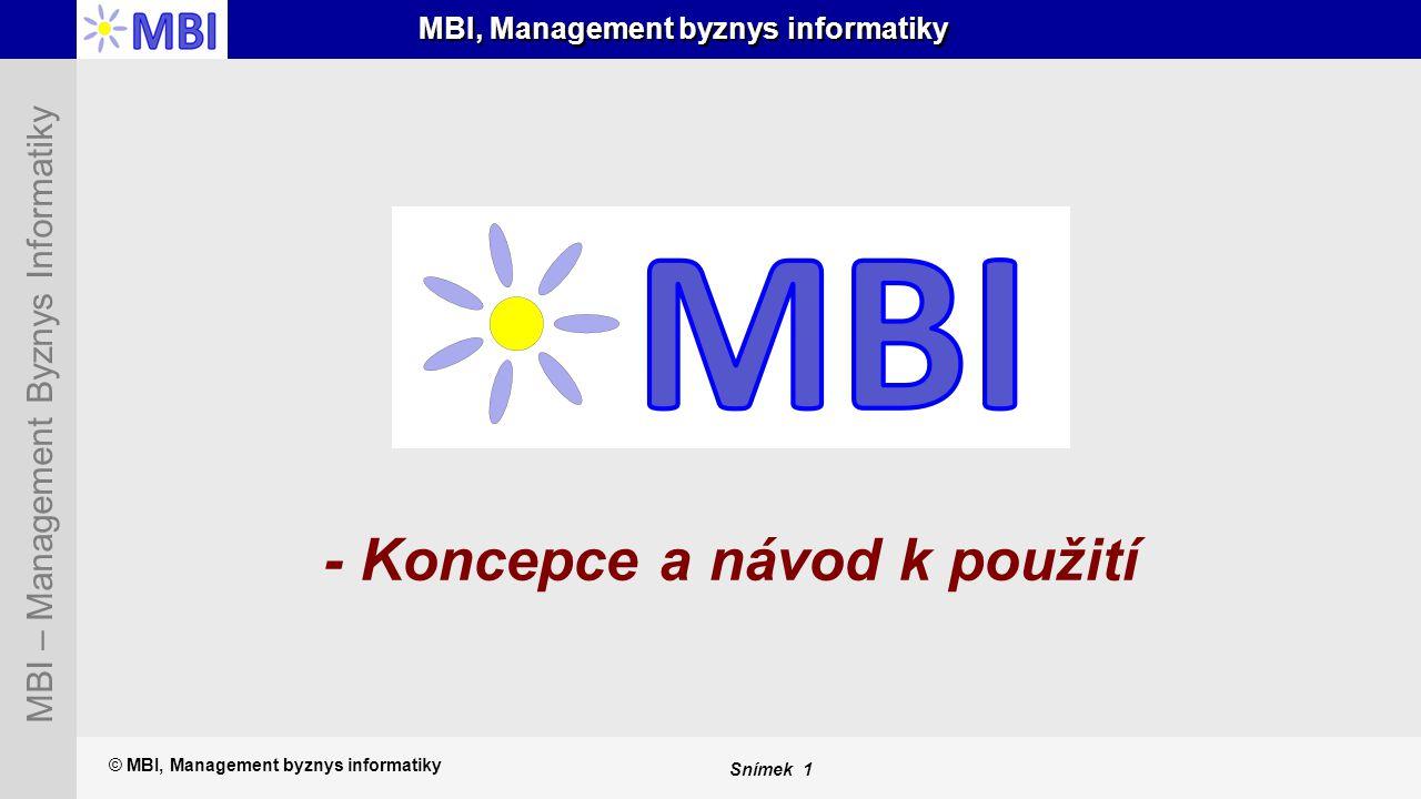 MBI, Management byznys informatiky
